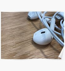 Apple headphones Poster