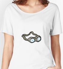 cartoon protective goggles Women's Relaxed Fit T-Shirt