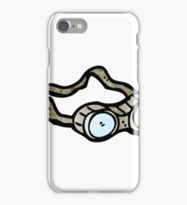 cartoon protective goggles iPhone Case/Skin