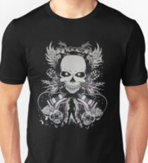 skull rock guitaris ladies  T-Shirt