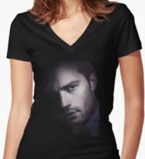 Fifty Shades Of Darker Christian Grey Women's Fitted V-Neck T-Shirt