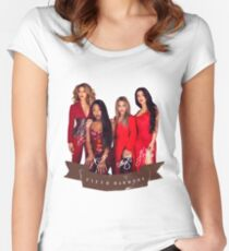 Fifth Harmony Portrait With Signatures Women's Fitted Scoop T-Shirt