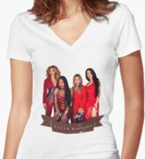 Fifth Harmony Portrait With Signatures Women's Fitted V-Neck T-Shirt
