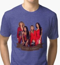 Fifth Harmony Portrait With Signatures Tri-blend T-Shirt