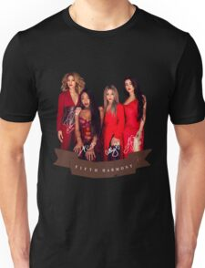 Fifth Harmony Portrait With Signatures Unisex T-Shirt