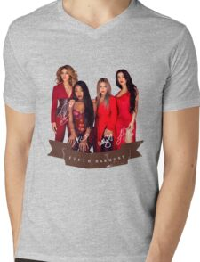 Fifth Harmony Portrait With Signatures Mens V-Neck T-Shirt