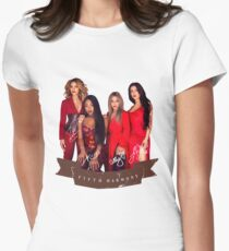Fifth Harmony Portrait With Signatures Womens Fitted T-Shirt