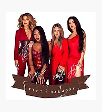 Fifth Harmony Portrait With Signatures Photographic Print