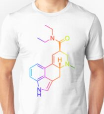 LSD Molekül Farbig Unisex T-Shirt