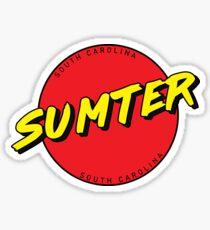 Sumter South Carolina Retro Sticker