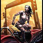Cyberpunk Painting 085 by Ian Sokoliwski