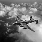 Handley Page Halifax above clouds by Gary Eason