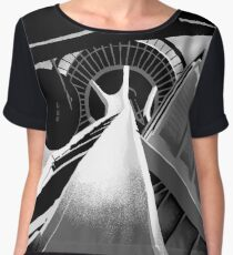 Space Needle Women's Chiffon Top