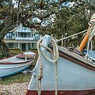 The Boat Yard at Spanish Point  by John  Kapusta