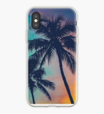 Hawaii Palm Trees At Sunset iPhone Case