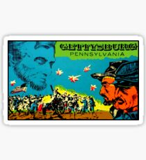 Gettysburg Pennsylvania Vintage Travel Decal Sticker