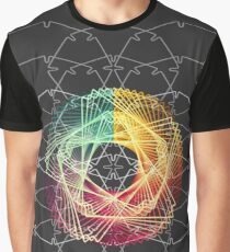 WIREFRAME Geometrical Star System Graphic T-Shirt