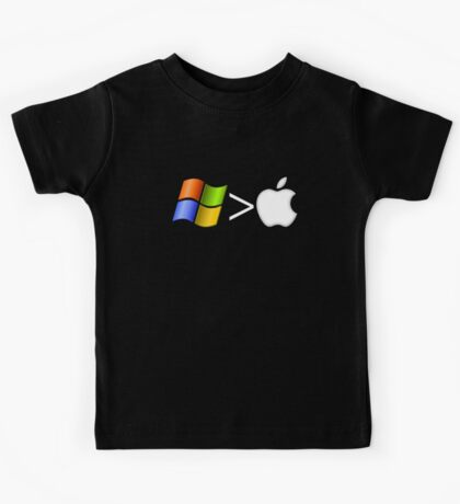 PC greater than Mac Kids Clothes