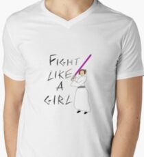 FIGHT LIKE A GIRL - LEIA ORGANA Men's V-Neck T-Shirt