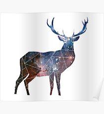 Deer Universe Minimal Geometric Poster