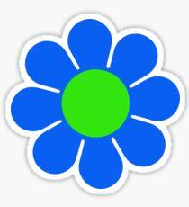 Blue Green Hippy Flower Daisy Sticker