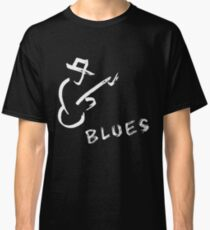blues art guitar Classic T-Shirt