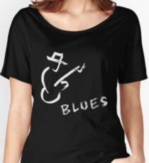 blues art guitar Women's Relaxed Fit T-Shirt