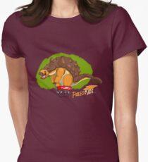Paleo Kids-Ankylosaur Paleo Flyer with Lenny Women's Fitted T-Shirt