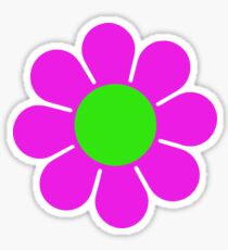 Pink Green Hippy Flower Daisy Sticker