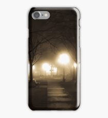 Winter Fog #1 - Town Square iPhone Case/Skin