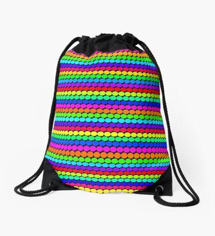 Rainbow Polka dots 004 Drawstring Bag
