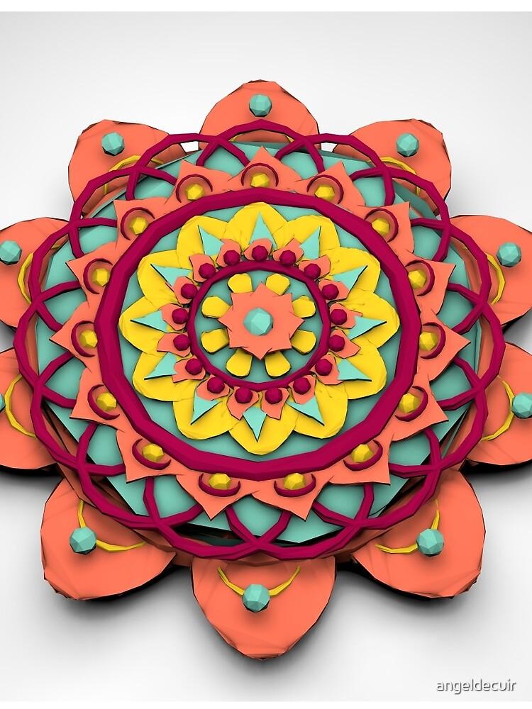 Mandala 3D Lowpoly by angeldecuir