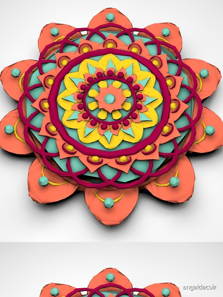Mandala 3D Lowpoly de angeldecuir