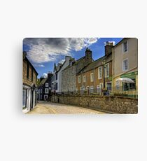 Along the Cobbled High Street Canvas Print