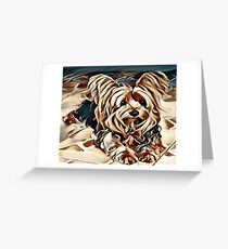 My Creative Design of a Yorkshire Terrier Greeting Card