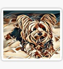 Ollie the Yorkshire Terrier Sticker