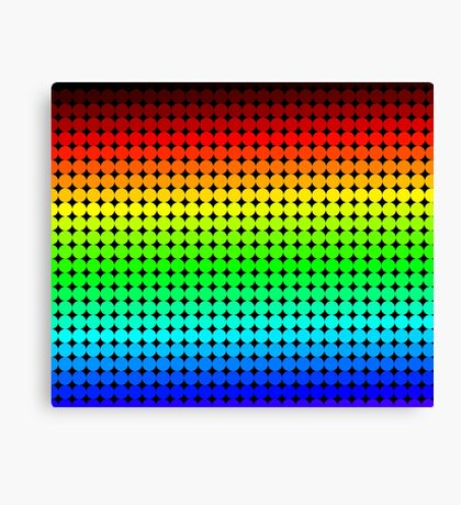 Rainbow Polka dots 005 Canvas Print