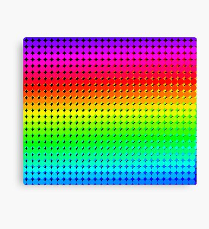 Rainbow Polka dots 006 Canvas Print