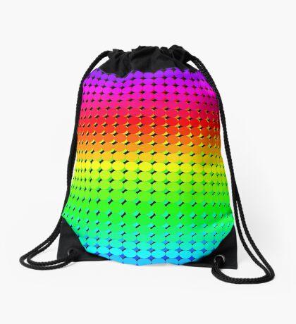 Rainbow Polka dots 006 Drawstring Bag