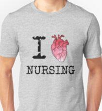 I Heart (Love) Nursing - RN - Nurse Unisex T-Shirt