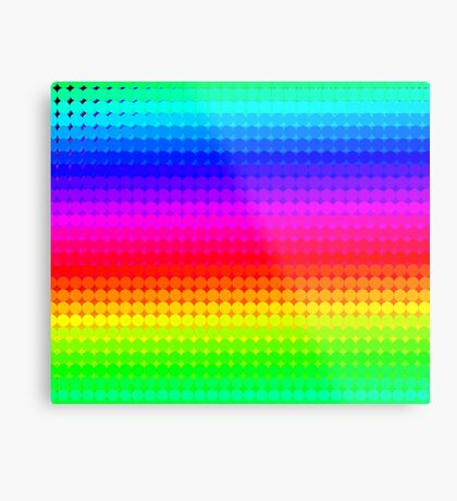 Rainbow Polka dots 007 Metal Print