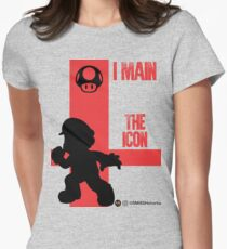 The Icon (Black) Womens Fitted T-Shirt