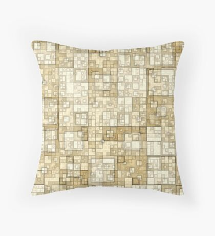 Squares of Taupe by Julie Everhart Throw Pillow