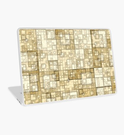 Squares of Taupe by Julie Everhart Laptop Skin