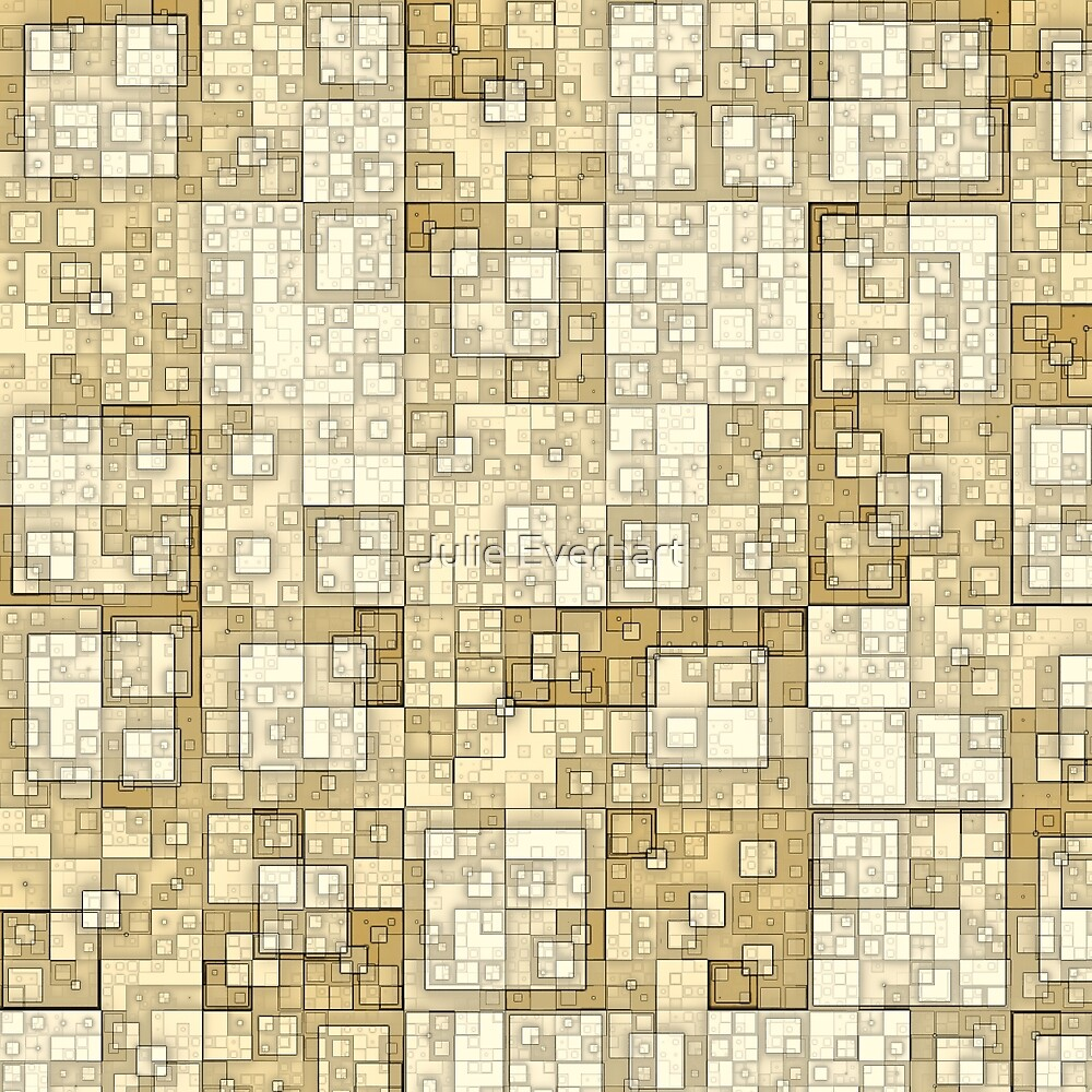 Squares of Taupe by Julie Everhart by Julie Everhart