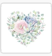 Succulent love Sticker