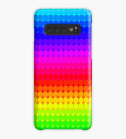 Rainbow Polka dots 007 Case/Skin for Samsung Galaxy