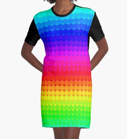 Rainbow Polka dots 007 Graphic T-Shirt Dress