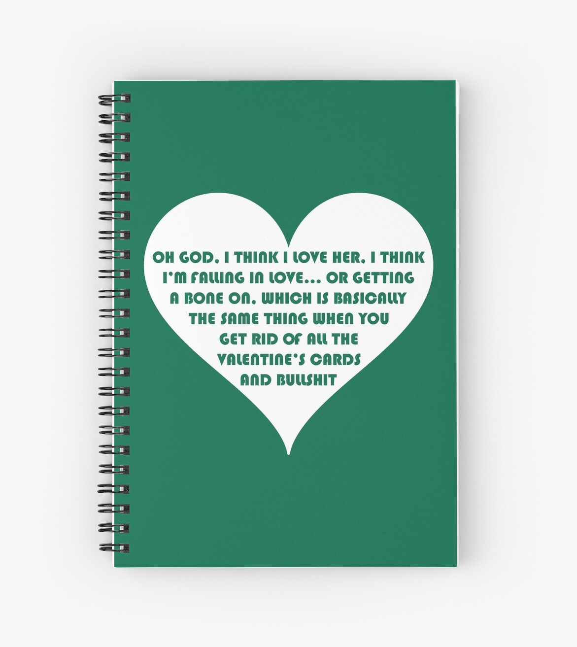 Peep Show Love Or A Bone On Spiral Notebooks By Ponchtheowl