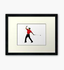 Tiger Woods Fist Pump Framed Print